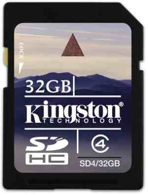 Kingston SD 32 GB Class 4 Memory Card