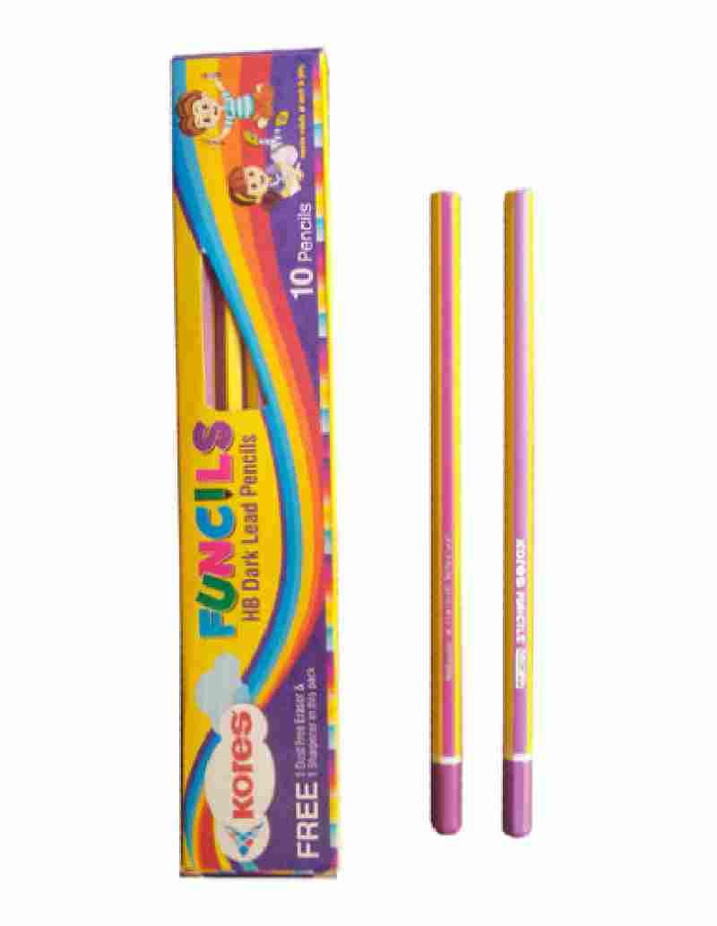 Kores Funcil HB Rubber-tipped Pack of 10PCs Pencil