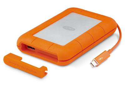 Lacie Rugged USB 3.0 Thunderbolt 2 TB External Hard Disk