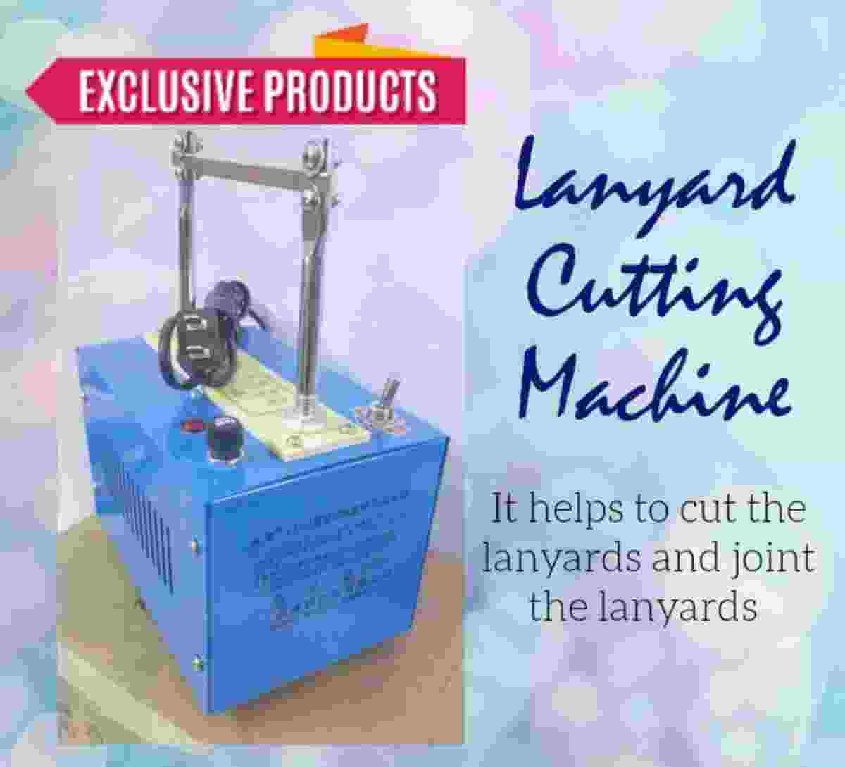 Lanyard Cutting Cut and Joint ID Card Ribbon Dori Cutter Machine