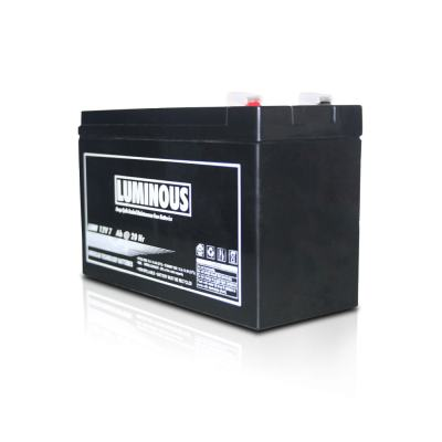 Luminous Ups Battery | Luminous 12V 7.2Ah Battery Price@Luminous Ups Battery Market Shop - HelpingIndia