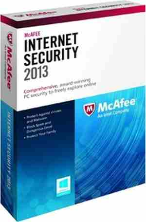 McAfee Internet Security 2013 1 PC 1 Year