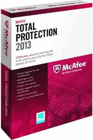 McAfee Total Protection 2013 1 PC 1 Year