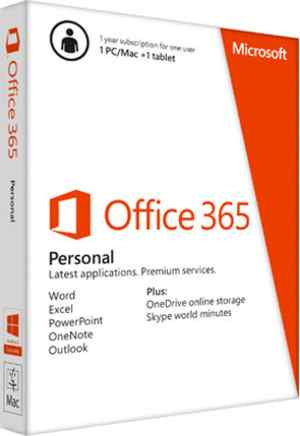 MS Microsoft Office 365 Personal Software