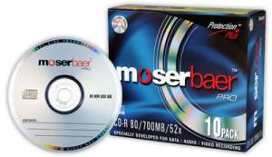 Moser Baer Pro CD-R 10 Pack Slim Jewel Case