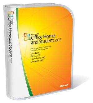 MS Office 2007 Home and Student 3 User Software CD