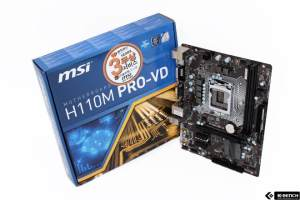 MSI H110M Pro-VD 6th Gen DDR4 Desktop Motherboard
