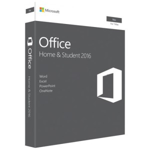 Microsoft MS Office 2016 for Mac Home and Student Edition Software