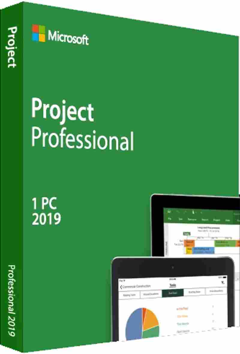 Microsoft Project 2019 Standard Software