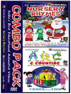Golden Ball Combo Pack Of Animated Nursery Rhymes ABC And Counting VCD