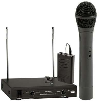 Ahuja Cordless Mic | Ahuja AWM-490VHL Dual Microphone Price 12 Jul 2020 Ahuja Cordless Wireless Microphone online shop - HelpingIndia