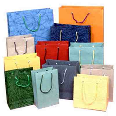 Paper Carry Bags Kraft Laminated Refuse & Printed Shopping Bags