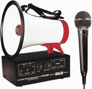 AHUJA PM 99 With Hand Held Microphone Super Power Megaphone - Click Image to Close