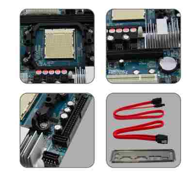 Zebronics ZEB N68 Combo AM2,AM2 AM3 AMD CPU Motherboard - Click Image to Close