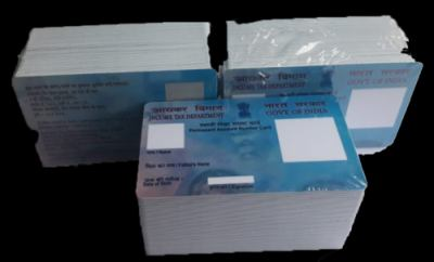Pre Printed PAN Card 100 PCs PVC Plastic Cards