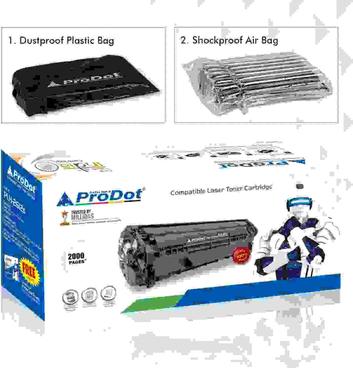 ProDot 12A HP Printer 1010/1012/1015/1018/1020/1022 Compatible Toner Cartridge