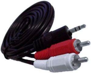 Stereo to 2 RCA Audio Cable