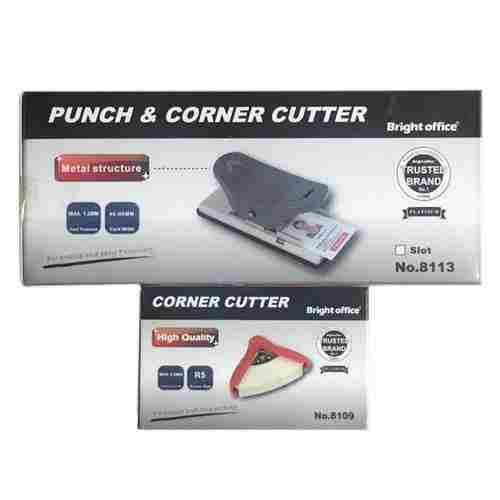 Bright Office 8113 Punch & Corner Cutter for PVC ID Card Punch with Corner Cutter Tools