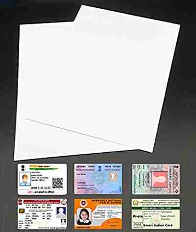 PVC Inkjet Rubber A4 Sheet 10 PCs For Making Aadhar Card, Voter Id, Pan Card, Driving License, Ration Card Id Cards