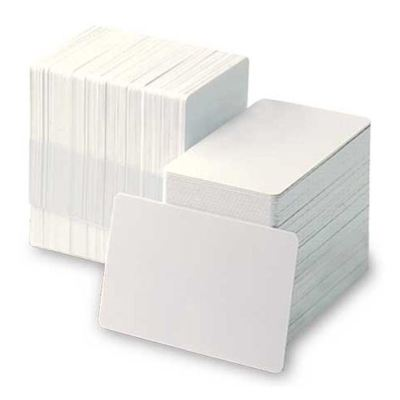 PVC Plastic Thermal Printable School Corporate 100Pcs Blank ID White Cards