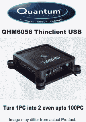 Quantum QHMPL 6056 Thinclient USB support Win 7 /8/10,XP,Server 2008 2003 Mini ThinClient