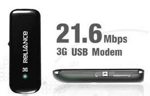 Reliance 3G Internet USB 21 mbps Data Card Dongle Plans Delhi