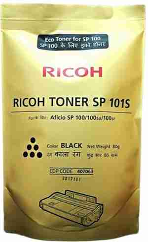 Ricoh SP 101S Black Toner Refill Powder Pouch