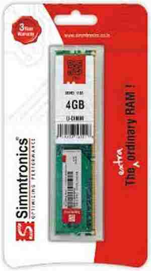 SIMMTRONICS 4GB DDR3 1600 MHZ DESKTOP Original RAM - Click Image to Close