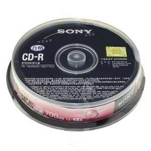 Sony CD-R 10 Pack Spindle Blank Media