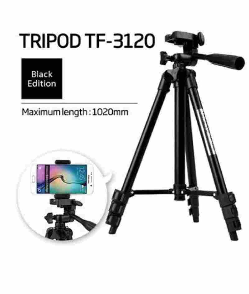 Tripod TF-3120 Adjustable Black Edition Aluminium Alloy for Mobile Phones & Camera Screw Mobile Holder Bracket Stand