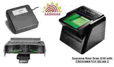 Crossmatch Aadhar Card 4G Supremo Biometrics UID FingerPrint + Iris Scanner Kit