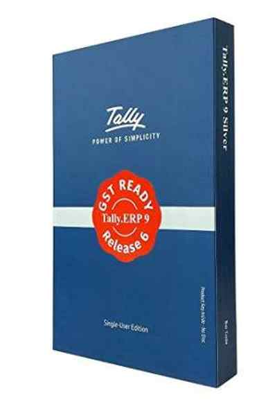 Tally ERP 9 GST Ready Single Silver Accounting Software CD Call for Best Price