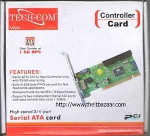 PCI to SATA HDD adaptor CONVERTER Card 3 Sata 1 IDE port