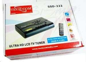 Techcom External TV Tuner LCD TFT Box