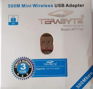 TeraByte Mini USB Wireless Wi-Fi Nano 2.4GHz 500 mbps 802.11N Adapter Dongle Adapter