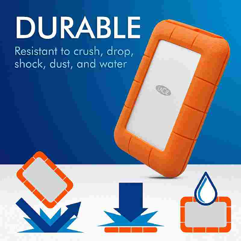 Lacie 4 TB Rugged USB 3.0 without Power Thunderbolt External Hard Disk
