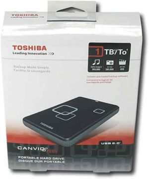 Toshiba Canvio 1TB USB Portable External Hard Drive HDD