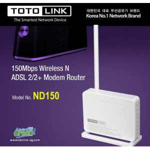 Totolink 150Mbps Wireless N ADSL 2/2+ Modem Router