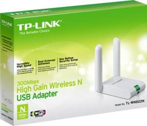 TP-LINK TL-WN822N 300 Mbps High Gain Wireless N USB Adapter