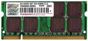 Transcend DDR2-667/PC2-5300 DDR2 2 GB Laptop RAM