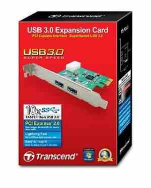 TRANSCEND Dual Port USB 3.0 PCI-Express High Speed internal card