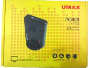 Umax External TV Tuner Card For LCD / TFT, FM + Remote