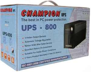 Buy Champion Home & UPS@lowest Price Champion Ups Online Computer Market Shop Champion ups 800VA UPS best offers list