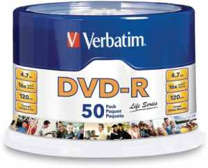 Verbatim DVD-R Blank Recordable Spindle 50 PCs Pack