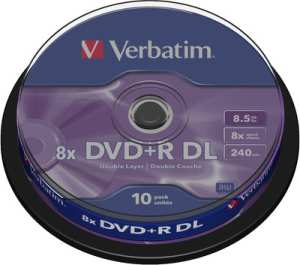 Verbatim DVD+R DL (8.5GB) 10 Pack Spindle