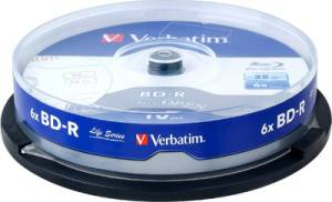 Verbatim Blu-ray Recordable Spindle 10 PCs Pack