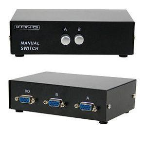 VGA Switch 2 Port Manual Switch Switcher