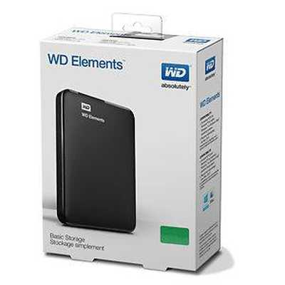 Western Digital 1TB Elements 2.5 USB 3.0 External Portable Hard Disk Drive HDD