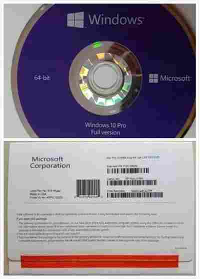 Microsoft Original Windows 10 Pro 64Bit OS Software OEM Pack DVD