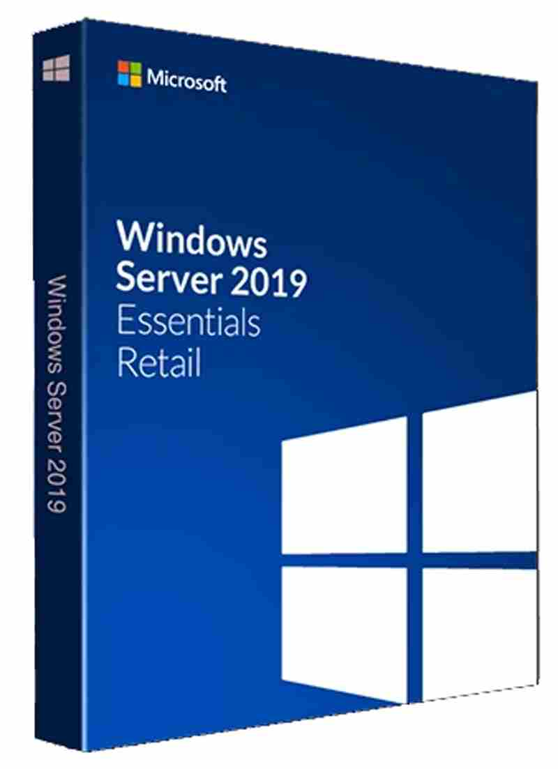 MS Windows 2019 (supports 25 user/50 dvc) Microsoft OEM DVD (TSL) DVD Softweare Server Essential